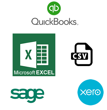 MTDfVAT Software compatibility for Microsoft EXCEL, CSV files, Sage, QuickBooks, Xero
