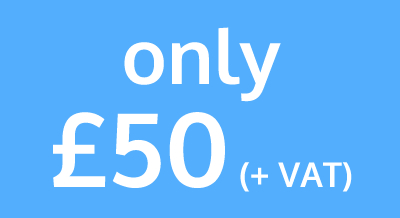 Only £50 +VAT - Buy now
